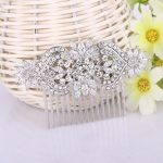 Bella Fashion Love Heart Flower Bridal Hair Comb Cubic Zircon Rhinestone Head Piece For <b>Wedding</b> Bridesmaid Party <b>Jewelry</b> Gift
