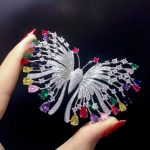 925 <b>sterling</b> <b>silver</b> with cubic zircon butterfly brooch pins multi color fashion women <b>jewelry</b> free shipping