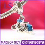LS High Quality 100% 925 <b>Silver</b> Parks Exclusive Flying Dumbo Charm Fit Original <b>Bracelets</b> Pulseira Essencia.Women Fine Jewelry N