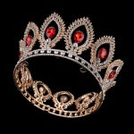 Red Crystal Crown Full Round Tiara Wedding Headpieces Party Show Head <b>Jewelry</b> Princess King Crown Gold Tiara Women Hair <b>Jewelry</b>
