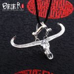 Beier new store 100% 925 thai <b>silver</b> sterling cow pendant <b>necklace</b> high quality fashion jewelry free give rope A2106