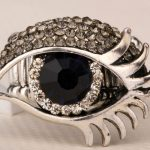 Eyeball stretch ring <b>antique</b> gold & silver color W crystal halloween <b>jewelry</b> gifts for women girls wholesale dropshipping RD17