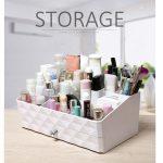 <b>fashion</b> plastic organizers with drawer desktop storage box Cosmetics holder makeup organizer Office <b>jewelry</b> case perfect gift