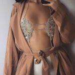 Best lady 2017 <b>Fashion</b> Statement <b>Jewelry</b> Flowers Sexy Body Necklace Chain Bra Necklace Summer Boho Luxury Brassiere Women 5241