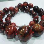 Beautiful red round charms phoenix stone vintage gems diy hot sale necklace <b>jewelry</b> <b>making</b> 18 inch BV358