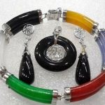 Prett Lovely Women's Wedding colorful gem bless bracelet earring pendant/ring set>AAA GP Bridal wide watch wing