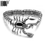 HIP Punk Gothic Scorpion Men's Chain <b>Bracelet</b> Bangle <b>Silver</b> Plated Stainless Titanium Steel Metal