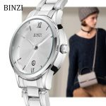 Women Watches BINZI Quartz Ladies Wrist Watch 2018 <b>Bracelet</b> Fashion Relogio Feminino Montre Femme Female Clock <b>Silver</b> Wristwatch