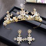 Baroque Golden Wedding Crown Tiara Bridal Hair <b>Jewelry</b> <b>Fashion</b> Hairwear Vintage Headband Hairband Wedding Hair Accessories HG391