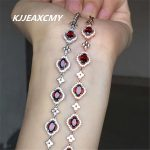 KJJEAXCMY colorful jewelry, natural garnet, female <b>bracelet</b>, hand ornaments, 925 <b>silver</b> ornaments, crystal jewelry