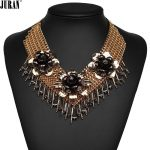 Vintage Luxury Chunky Choker Necklace Classic <b>Antique</b> Flowers chain Collier bib Necklace Statement JURAN Fashion <b>Jewelry</b>