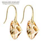 Neoglory Yellow Austrian Crystal Charm Dangle Drop Earrings for Women Bridal <b>Fashion</b> Gift <b>Jewelry</b> 2018 New <b>Fashion</b> Brand JS9