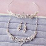Dower me Generous Silver <b>Handmade</b> Rhinestone Pearl Bridal <b>Jewelry</b> Sets Wedding Tiara Necklace Earrings Women Accessories