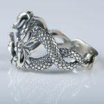 Dragon 925 Sterling <b>Silver</b> Men Engagement Wedding Ring for 11x15mm Oval Cabochon Semi Mount Gemstone Fine <b>Jewelry</b> Adjustable