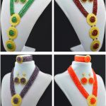 2016 Fashion High quality <b>Handmade</b> <b>Jewelry</b> set Crystal beads necklace earring bracelet nigerian costume <b>jewelry</b> set 6MM Bead