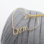 PINJEAS Personalized Name Necklace Custom Name Heart letter Birthstone <b>Handmade</b> designs wire word <b>Jewelry</b> woman gifts collier