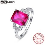 JQUEEN Vintage Garnet Ruby Red Stone S925 <b>Silver</b> Ring Opened Size 100% Pure 925 <b>Sterling</b> <b>Silver</b> Rings for women <b>Jewelry</b>