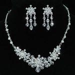 Wholesale Bridal Wedding <b>Handmade</b> Crystal Necklace Earrings Set CS1199