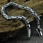 V.YA Genuine 100% Real Pure 925 Sterling <b>Silver</b> Men <b>Bracelet</b> Fashion Punk Style Thai <b>Silver</b> Bangle <b>Bracelets</b> Men Jewelry