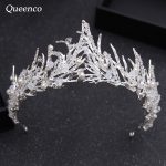 Queenco Baroque <b>Handmade</b> Flame Crown with Bead Rhinestone Hair Ornaments <b>Jewelry</b> Princess Bride Wedding Headdress Pageant Diadem
