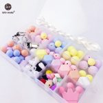Let's <b>Make</b> DIY <b>Jewelry</b> Accessory Unfinished Craft Set Food Grade Silicone Beads Baby Chewable Toys Nursing Necklace Baby Pendant