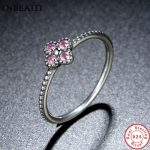 INBEAUT Oriental Blossom Pink CZ Ring 925 Sterling Silver Women Fashion Wedding Crystal Rings for Finger <b>Jewelry</b> <b>Accessories</b>
