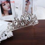 XIAONIANSHI Luxury Silver <b>Wedding</b> Diamante Pageant Tiaras Hairband Big Crystal Bridal Crowns For Brides Hair <b>Jewelry</b> Headpiece