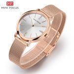 MINIFOCUS Top Brand Luxury Women Watch Fashion Stainless Steel <b>Bracelet</b> Watch Rose Gold <b>Silver</b> Ladies Quartz Waterproof Clock