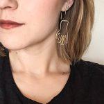 PINJEAS <b>Handmade</b> silver Wiring Dangle Drop Hand earrings Fanshion personality bar Bridesmaid gifts long earring <b>jewelry</b>
