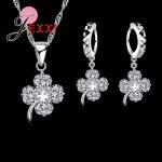Jemmin 925 <b>Silver</b> Flower Jewelry Sets For Women Lady Girl Jewelry Sets Necklace <b>Earrings</b> Wholesale Pendentes Set