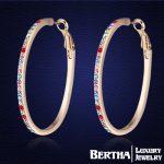 Valentine Day Gift! New Sale Hot Crystal Earrings Austria Crystal Circle Earrings For Women <b>Fashion</b> <b>Jewelry</b>