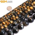 """Gem-inside 4-16mm AAA Natural Stone Beads Round Dream Lace Tiger Eye Beads For <b>Jewelry</b> <b>Making</b> Beads 15"""" DIY Beads Jewellery"""