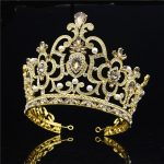Baroque Big Tiaras Large Pageant Crowns Headdress Crystal Headband Diadem Prom Beauty Hair <b>Jewelry</b> <b>Wedding</b> accessories