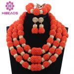 Luxury <b>Handmade</b> Original Coral Beaded Statement Necklace Set African Nigerian Wedding Coral Beads <b>Jewelry</b> Free Shipping CNR757