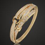 Blucome Perfect AAA Zircon Bangles For Men Anniversary <b>Jewelry</b> Copper Bracelet Women's Pulseira De Ouro Love chain Bangles