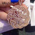 SHANICE DIY Women Pearls Tassel Suspension Pendant Necklace Making Material Round Hollow Connector Pearls <b>Jewelry</b> <b>Accessories</b>
