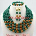 Green African Coral Beads <b>Jewelry</b> Sets Nigerian Wedding African Bridal <b>Jewelry</b> Set Free Shipping R742