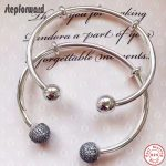 Newest Arrival Collection Popular And Fashion CZ Paving Round Heard 925 Sterling <b>Silver</b> Open Mouth Charm Bangle