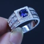 Real Male <b>Jewelry</b> Soild 925 Sterling silver Female Ring 1ct birthstone 5A Zircon stone AAA Cz Party <b>wedding</b> band ring for Men