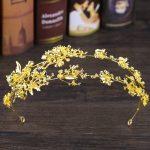 Vintage Golden/Silver Flower Headband Baroque Crown Hairband Wedding Hair <b>Jewelry</b> Bridal Tiara Accessories