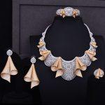GODKI Super Luxury Dance Belt Full Micro Cubic Zirconia Women Wedding Dress Choker <b>Necklace</b> Earring <b>Jewelry</b> Set