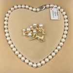 Sinya Natural freshwater round pearl beads strand necklace Chocker brooch <b>jewelry</b> set for Women Mum New years Christmas gift Hot