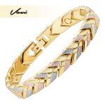 Vivari Trendy Health 3-Tone Color Gold Magnetic Bracelet For Women Arrow Bracelets Bangle <b>Fashion</b> Ladies <b>Jewelry</b> Gift Charm New