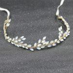 Dower me Opal Crystal Bridal Headband Hair Vine Gold Wedding <b>Jewelry</b> Hair Accessories Headbands <b>Handmade</b> Women Headwear