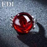 EDI Luxury Gemstone 10ct Natural Green Chalcedony Garnet 925 Sterling <b>Silver</b> Wedding Rings Fine <b>Jewelry</b> Retro Females