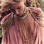 Stunning!!! Gold Full Metal Body shoulder Chain <b>JEWELRY</b> <b>Necklace</b> Waist Bikini Harness Dress Decor Slave Chain Jewellry BDC825