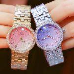 Hot Sale Lady New Fashion Famous Brand All Stars Crystal Watch Women Luxury Diamands <b>Silver</b> Watch Rhinestone Bangle <b>Bracelet</b>