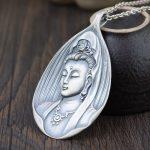 FNJ 925 <b>Silver</b> Buddha Pendant New Fashion Good Luck Flat Pure Original S990 Thai <b>Silver</b> Pendants for Women Men <b>Jewelry</b> Making