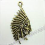 20pcs Vintage Charms <b>Native</b> <b>American</b> Indian Chief Pendant Antique bronze Zinc Alloy Fit Bracelet Necklace DIY <b>Jewelry</b> Findings