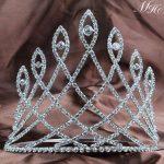 Fantastic 6″ Pageant Tiaras Diadem Clear Rhinestones Crystal Crowns Wedding Bridal Prom Party Hair <b>Jewelry</b> Accessories
